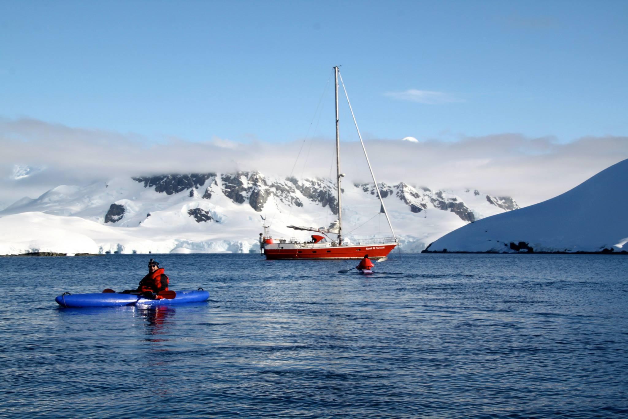 שייט באנטרקטיקה - ספורט ימי - חתירה בקייק - דרך הים