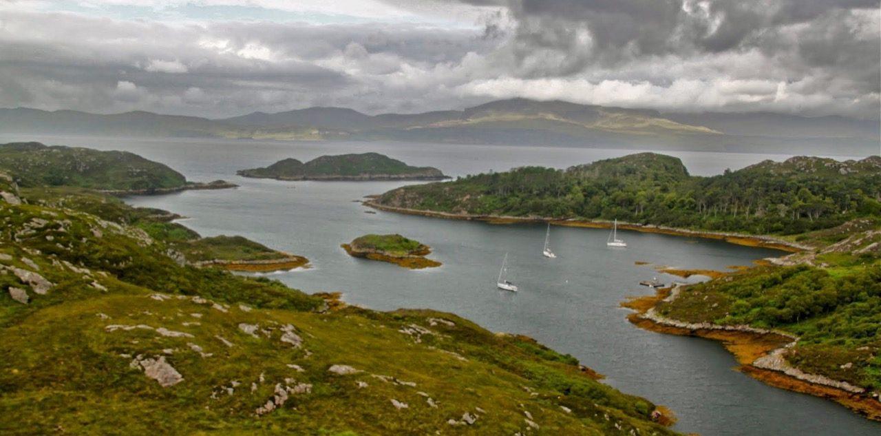 שייט בסקוטלנד - אזורי עגינה יפים - דרך הים